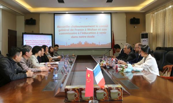 法国驻武汉总领事官员一行亲临我