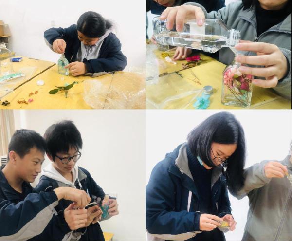 植物社組織開展制作浮游瓶活動